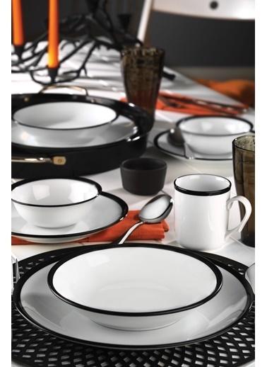 Kütahya Porselen 24 Parça Siyah Fileli Yemek Seti Siyah